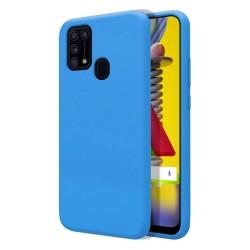 Funda Silicona Líquida Ultra Suave para Samsung Galaxy M31 color Azul