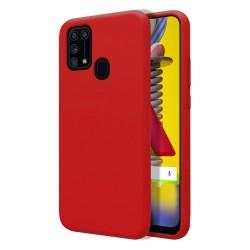 Funda Silicona Líquida Ultra Suave para Samsung Galaxy M31 color Roja