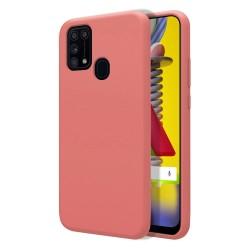 Funda Silicona Líquida Ultra Suave para Samsung Galaxy M31 color Rosa