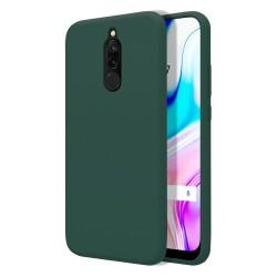 Funda Silicona Líquida Ultra Suave para Xiaomi Redmi 8 color Verde Oscuro