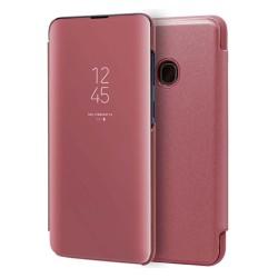 Funda Flip Cover Clear View para Samsung Galaxy A40 color Rosa