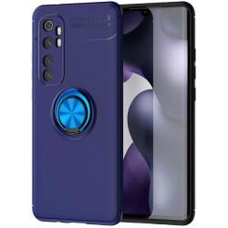 Funda Magnetica Soporte con Anillo Giratorio 360 para Xiaomi Mi Note 10 Lite Azul