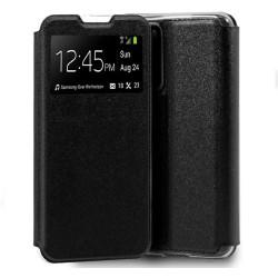 Funda Libro Soporte con Ventana para Huawei P40 Pro color Negra