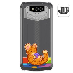 Funda Gel Transparente para Blackview BV9100 diseño Leopardo Dibujos