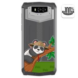 Funda Gel Transparente para Blackview BV9100 diseño Panda Dibujos