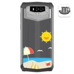 Funda Gel Transparente para Blackview BV9100 diseño Playa Dibujos