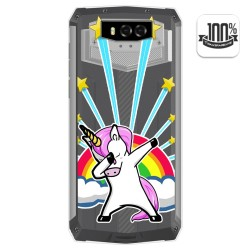 Funda Gel Transparente para Blackview BV9100 diseño Unicornio Dibujos