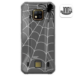 Funda Gel Transparente para Doogee S95 Pro diseño Araña Dibujos