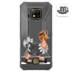 Funda Gel Transparente para Doogee S95 Pro diseño Avestruz Dibujos