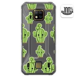 Funda Gel Transparente para Doogee S95 Pro diseño Cactus Dibujos