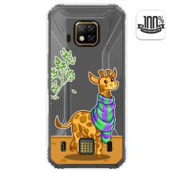 Funda Gel Transparente para Doogee S95 Pro diseño Jirafa Dibujos