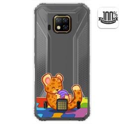 Funda Gel Transparente para Doogee S95 Pro diseño Leopardo Dibujos