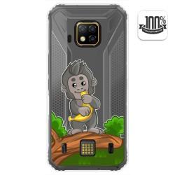 Funda Gel Transparente para Doogee S95 Pro diseño Mono Dibujos
