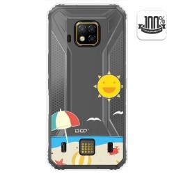 Funda Gel Transparente para Doogee S95 Pro diseño Playa Dibujos