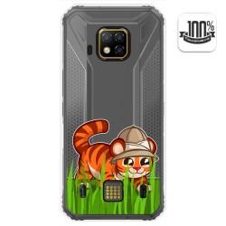 Funda Gel Transparente para Doogee S95 Pro diseño Tigre Dibujos