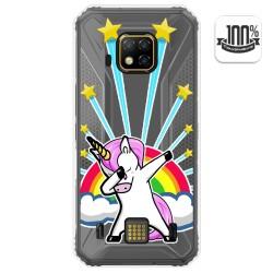 Funda Gel Transparente para Doogee S95 Pro diseño Unicornio Dibujos