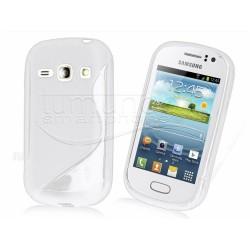 Funda Gel Tpu Samsung Galaxy Fame S6810 S Line Color Blanca
