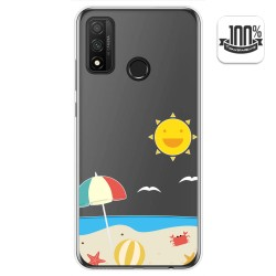 Funda Gel Transparente para Huawei P Smart 2020 diseño Playa Dibujos
