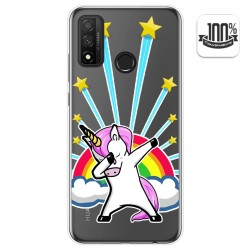 Funda Gel Transparente para Huawei P Smart 2020 diseño Unicornio Dibujos