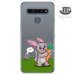 Funda Gel Transparente para Lg K61 diseño Conejo Dibujos