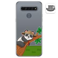 Funda Gel Transparente para Lg K61 diseño Panda Dibujos