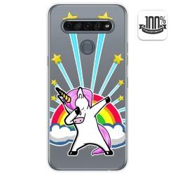Funda Gel Transparente para Lg K61 diseño Unicornio Dibujos