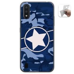 Funda Gel Tpu para Samsung Galaxy A01 diseño Camuflaje 03 Dibujos