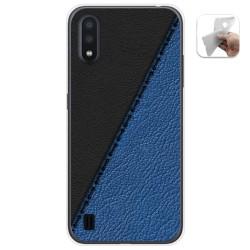 Funda Gel Tpu para Samsung Galaxy A01 diseño Cuero 02 Dibujos