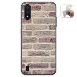 Funda Gel Tpu para Samsung Galaxy A01 diseño Ladrillo 01 Dibujos