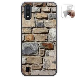 Funda Gel Tpu para Samsung Galaxy A01 diseño Ladrillo 03 Dibujos