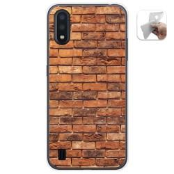Funda Gel Tpu para Samsung Galaxy A01 diseño Ladrillo 04 Dibujos