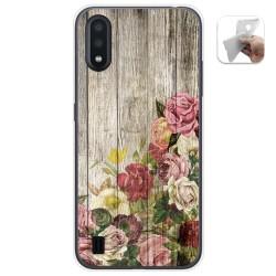Funda Gel Tpu para Samsung Galaxy A01 diseño Madera 08 Dibujos