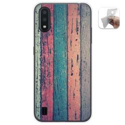 Funda Gel Tpu para Samsung Galaxy A01 diseño Madera 10 Dibujos