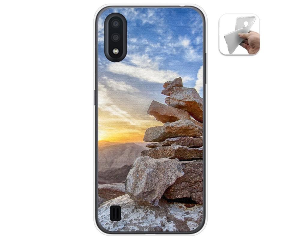 Funda Gel Tpu para Samsung Galaxy A01 diseño Sunset Dibujos