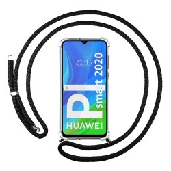 Funda Colgante Transparente para Huawei P Smart 2020 con Cordon Negro
