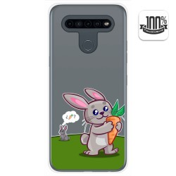Funda Gel Transparente para Lg K41s / Lg K51s diseño Conejo Dibujos