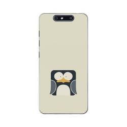 Funda Gel Tpu para Zte Blade V8 Diseño Pingüino Dibujos