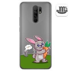 Funda Gel Transparente para Xiaomi Redmi 9 diseño Conejo Dibujos