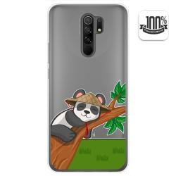 Funda Gel Transparente para Xiaomi Redmi 9 diseño Panda Dibujos