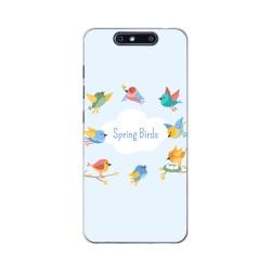 Funda Gel Tpu para Zte Blade V8 Diseño Spring Birds Dibujos