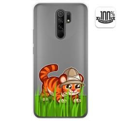 Funda Gel Transparente para Xiaomi Redmi 9 diseño Tigre Dibujos