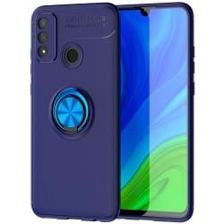 Funda Magnetica Soporte con Anillo Giratorio 360 para Huawei Y6p Azul