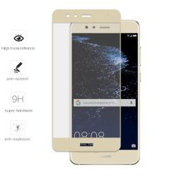 Protector Cristal Templado Frontal Completo Dorado para Huawei P10 Lite Vidrio