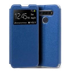 Funda Libro Soporte con Ventana para Lg K41s / K51s color Azul