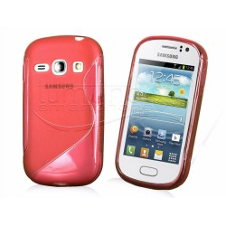 Funda Gel Tpu Samsung Galaxy Fame S6810 S Line Color Roja