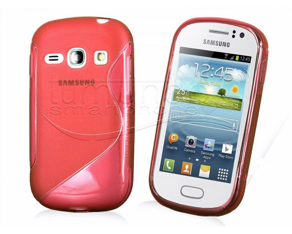 Funda Gel Tpu Samsung Galaxy Fame S6810 S Line Color Roja