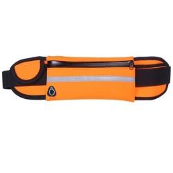 Cinturón Riñonera Deportivo con Bolsillos y Soporte para Botella color Naranja