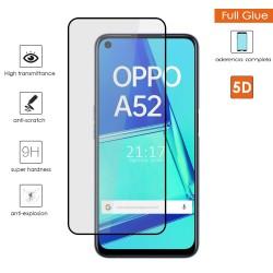 Protector Cristal Templado Completo 5D Full Glue Negro para Oppo A52 / Oppo A72 Vidrio