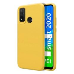 Funda Silicona Líquida Ultra Suave para Huawei P Smart 2020 color Amarilla