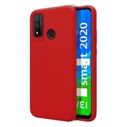 Funda Silicona Líquida Ultra Suave para Huawei P Smart 2020 color Roja